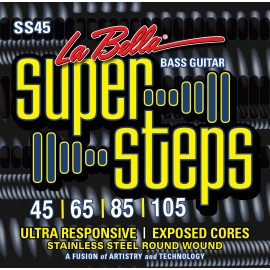 La Bella Super Steps 45-105 Round Wound Standard S/Steel Bass Strings SS45