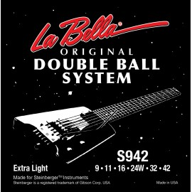 La Bella Double Ball 09-42 Extra Light S/Steel Electric Guitar Strings S942