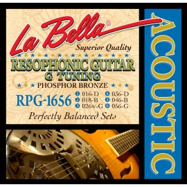 La Bella Resophonic G Tuning 16-56 Phosphor Bronze Acoustic Guitar Strings RGP1656