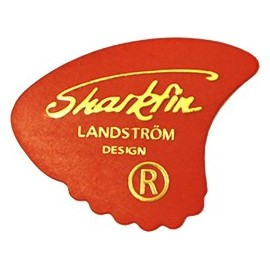 Sharkfin Landstrom Goldprint SOFT Red Guitar Picks GP101 - each