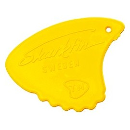 Sharkfin Relief MEDIUM Yellow Guitar Picks GP105  - each
