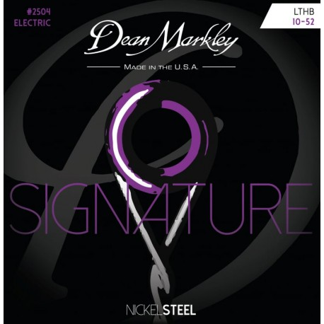 Dean Markley Signature 10-52 Light Top Heavy Bottom Nickel Electric Guitar Strings 2504