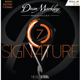 Dean Markley 7 String Signature 10-56 Regular Nickel Electric Guitar Strings 2503C