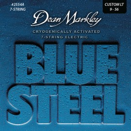 Dean Markley 7 String Blue Steel 09-56 Custom Light Nickel Electric Guitar Strings 2554A
