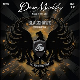 Dean Markley Blackhawk 09-42 Light Coated Nickel Electric Guitar Strings 8000