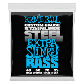 Ernie Ball Stainless Steel Extra Slinky 40-95 Bass Guitar Strings 2845