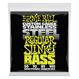 Ernie Ball Stainless Steel Regular Slinky 50-105 Bass Guitar Strings 2842