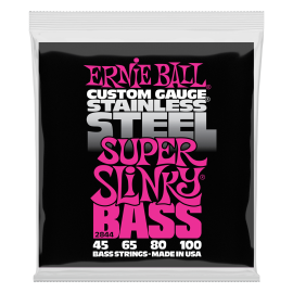 Ernie Ball Stainless Steel Super Slinky 45-100 Bass Guitar Strings 2844