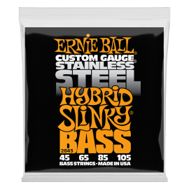 Ernie Ball Stainless Steel Hybrid Slinky 45-105 Bass Guitar Strings 2843