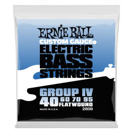 Ernie Ball Group IV Flatwound 40-95 Bass Guitar Strings 2808