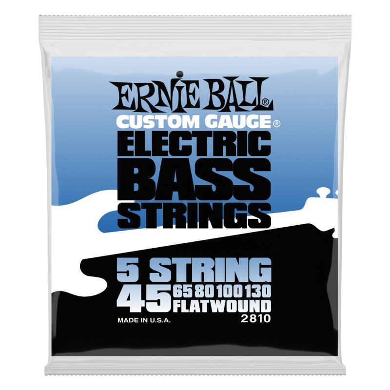 ernie ball 5 string flatwound 45 130 stainless steel bass guitar st. Black Bedroom Furniture Sets. Home Design Ideas