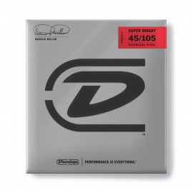 Dunlop Marcus Miller Super Bright 45-105 Stainless Steel Bass Guitar Strings DBMMS45105