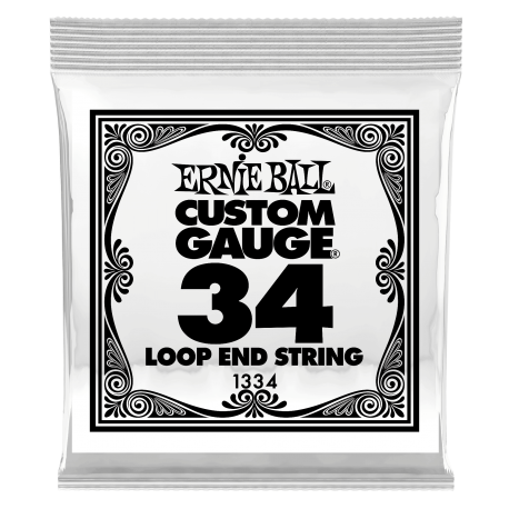 Ernie Ball Single 034w Banjo, Mandolin or Dulcimer Loop End Wound Steel String P01334