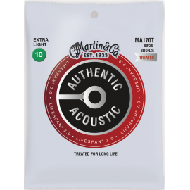 Martin Lifespan SP 10-47 Extra Light 80/20 Bronze Acoustic Guitar Strings MA170T