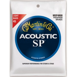 Martin Acoustic SP 45-100 Light Phosphor Bronze Acoustic Bass Strings MSP4800