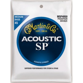 Martin Acoustic SP 45-105 Medium Phosphor Bronze Acoustic Bass Strings MSP4850