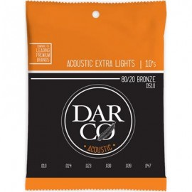 Darco by Martin 10-47 Extra Light 80/20 Bronze Acoustic Guitar Strings D510