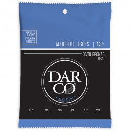 Darco by Martin 12-54 Light 80/20 Bronze Acoustic Guitar Strings D520
