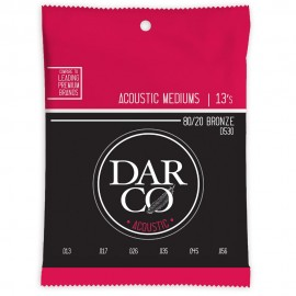 Darco by Martin 13-56 Medium 80/20 Bronze Acoustic Guitar Strings D530