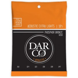Darco by Martin 10-47 Extra Light Phosphor Bronze Acoustic Guitar Strings D210
