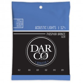 Darco by Martin 12-54 Light Phosphor Bronze Acoustic Guitar Strings D220