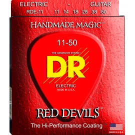 Dr Handmade Red Devils 11-50 Heavy Red Coated Nickel Electric Guitar Strings RDE-11