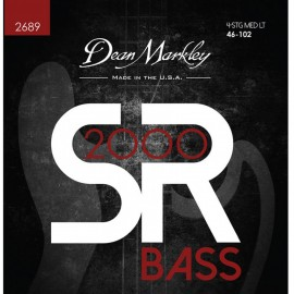 Dean Markley SR2000 High Performance 46-102 Med-Light Compound Wound Bass Strings 2689