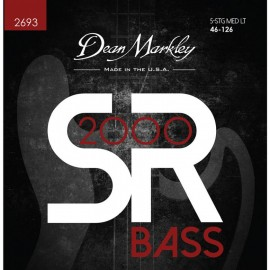 Dean Markley 5 String SR2000 High Performance 46-125 Med-Light Compound Wound Bass Strings 2693