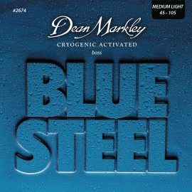 Dean Markley Blue Steel 45-105 Med-Light Cryogenic Activated S/Steel Bass Strings 2674