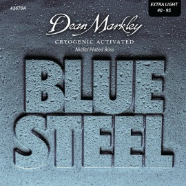 Dean Markley Blue Steel 40-95 Ex-Light Cryogenic Activated Nickel Plated  Bass Strings 2670A