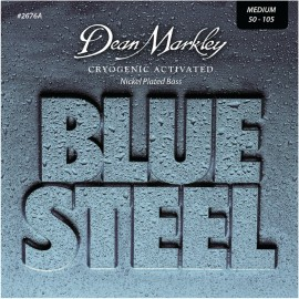 Dean Markley Blue Steel 50-105 Medium Cryogenic Activated Nickel Plated Bass Strings 2676A