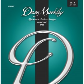Dean Markley Signature NickelSteel 45-105 Med-Light Nickel Plated Bass Strings 2604A