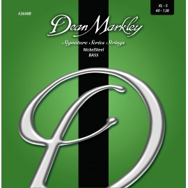Dean Markley 5 String Signature NickelSteel 40-128 Ex-Light Nickel Plated Bass Strings 2608B