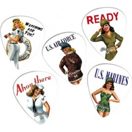 Clayton USA American Hotties Standard Delrin Heavy Picks - 12 pack
