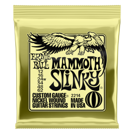 Ernie Ball Mammoth Slinky 12-62 (wound 3rd) Nickel Electric Guitar Strings 2214