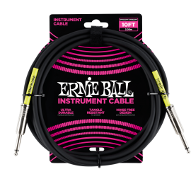 Ernie Ball Black 10ft Classic Ultraflex Instrument Cable P06048