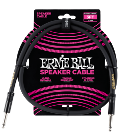 Ernie Ball Black 3ft Speaker Cable P06071