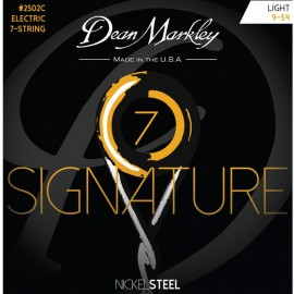 Dean Markley 7 String Signature 09-54 Light Nickel Electric Guitar Strings 2502C