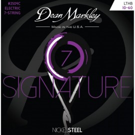 Dean Markley 7 String Signature 10-60 LTHB Nickel Electric Guitar Strings 2504C