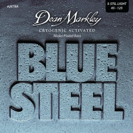 Dean Markley 5 String Blue Steel 45-125 Light Cryogenic Activated Nickel Plated Bass Strings 2678A