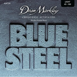 Dean Markley Blue Steel 45-100 Light Cryogenic Activated Nickel Plated  Bass Strings 2672A