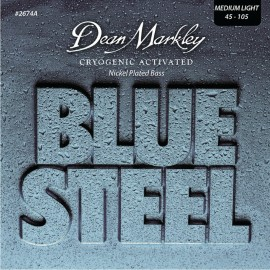 Dean Markley Blue Steel 45-105 Med-Light Cryogenic Activated Nickel Plated  Bass Strings 2674A