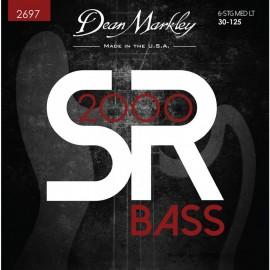 Dean Markley 6 String SR2000 High Performance 30-125 Med-Light Compound Wound Bass Strings 2697