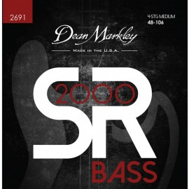 Dean Markley SR2000 High Performance 48-106 Medium Compound Wound Bass Strings 2691