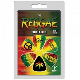Perri's Reggae Collection 6 Pack Guitar Picks