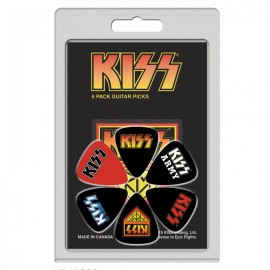 Perri's Kiss 2 Collection 6 Pack Guitar Picks