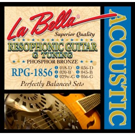 La Bella Resophonic G Tuning 18-56 Phosphor Bronze Acoustic Guitar Strings RGP1856