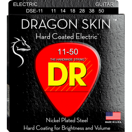 Dr Handmade Dragon Skin 11-50 Heavy Clear Coated Nickel Electric Guitar Strings DSE-11