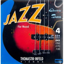 Thomastik Jazz Swing 43-106 Short Scale Flatwound Bass Guitar Strings JF324