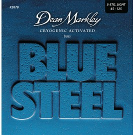 Dean Markley 5 String Blue Steel 45-125 Light Stainless Steel Bass Guitar Strings 2678